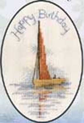 Picture of Cross-Stitch Greetings Card Sailing