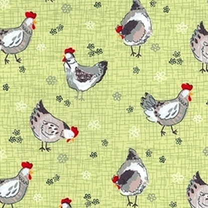 Picture of Cotton Poplin Print Chickens