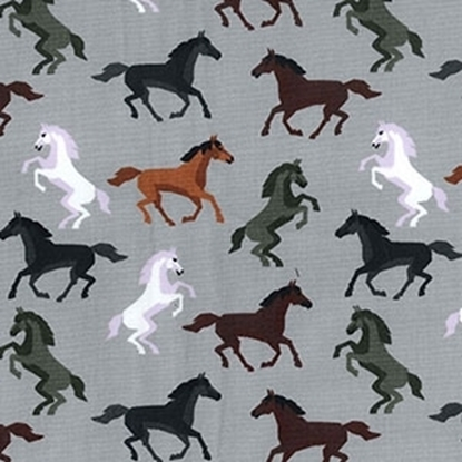 Picture of Cotton Poplin Print Horses