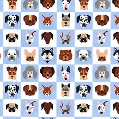 Picture of Cotton Poplin Print Dogs