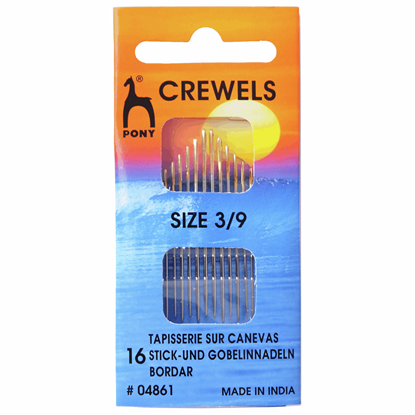 Picture of Pony Gold Eye Hand Sewing Needles: Crewels Size 3-9