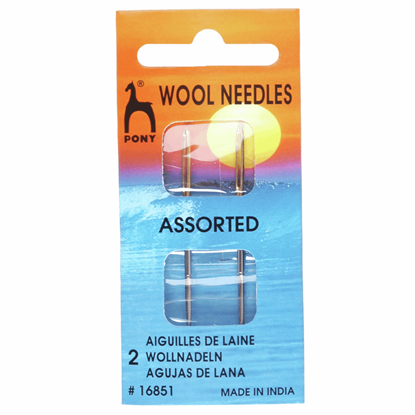 Picture of Pony Gold Eye Hand Sewing Needles: Wool