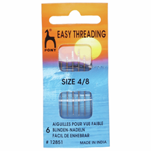 Picture of Pony Gold Eye Hand Sewing Needles: Easy Thread Size 4-8