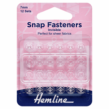 Picture of Snap Fasteners: Sew On 7mm: Nylon Invisible