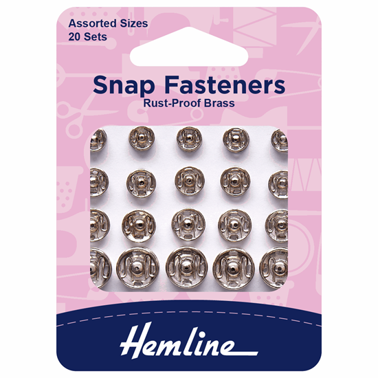 Picture of Snap Fasteners: Sew On Assorted: Nickel/Silver