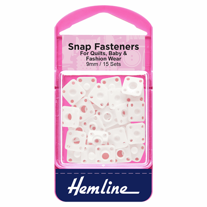 Picture of Snap Fasteners: Sew On 9mm: Plastic