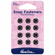 Picture of Snap Fasteners: Sew On 9mm: Black