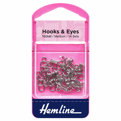 Picture of Hooks & Eyes: Nickel Size 2