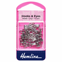 Picture of Hooks & Eyes: Nickel Size 3