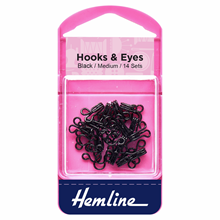 Picture of Hooks & Eyes: Black Size 2