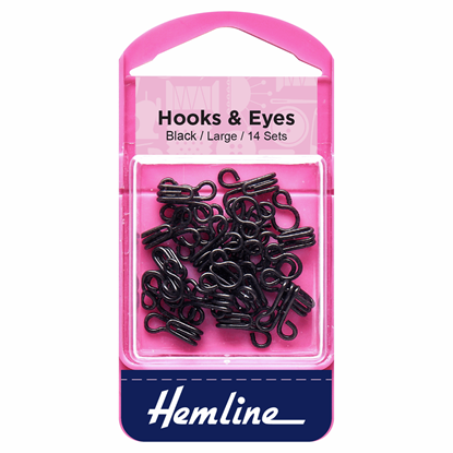 Picture of Hooks & Eyes: Black Size 3