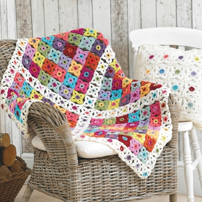 Picture of Stylecraft Free Crochet Pattern: Cushion Cover and Blanket 9090