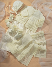 Picture of Sirdar Child 4 Ply Knitting Pattern: Baby Coat and Accessories 1662