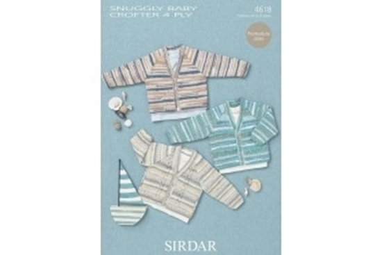 Picture of Sirdar Child 4 Ply Knitting Pattern: Cardigans 4618