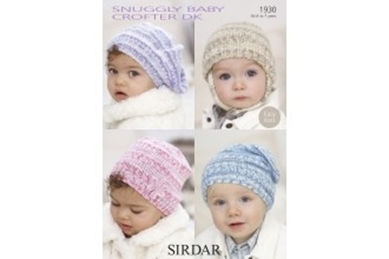 Picture of Sirdar Child DK Knitting Pattern: Hats 1930
